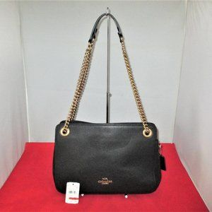 COACH Leather Bryant Convertible Carryall Satchel